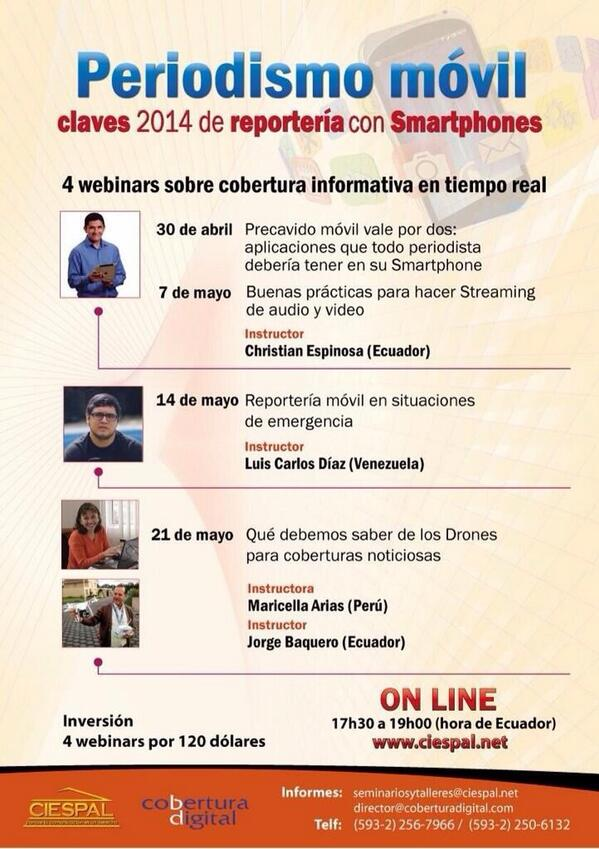 periodismo movil 4 seminarios web